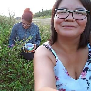 Ramona Young & Angela Cardinal berry picking