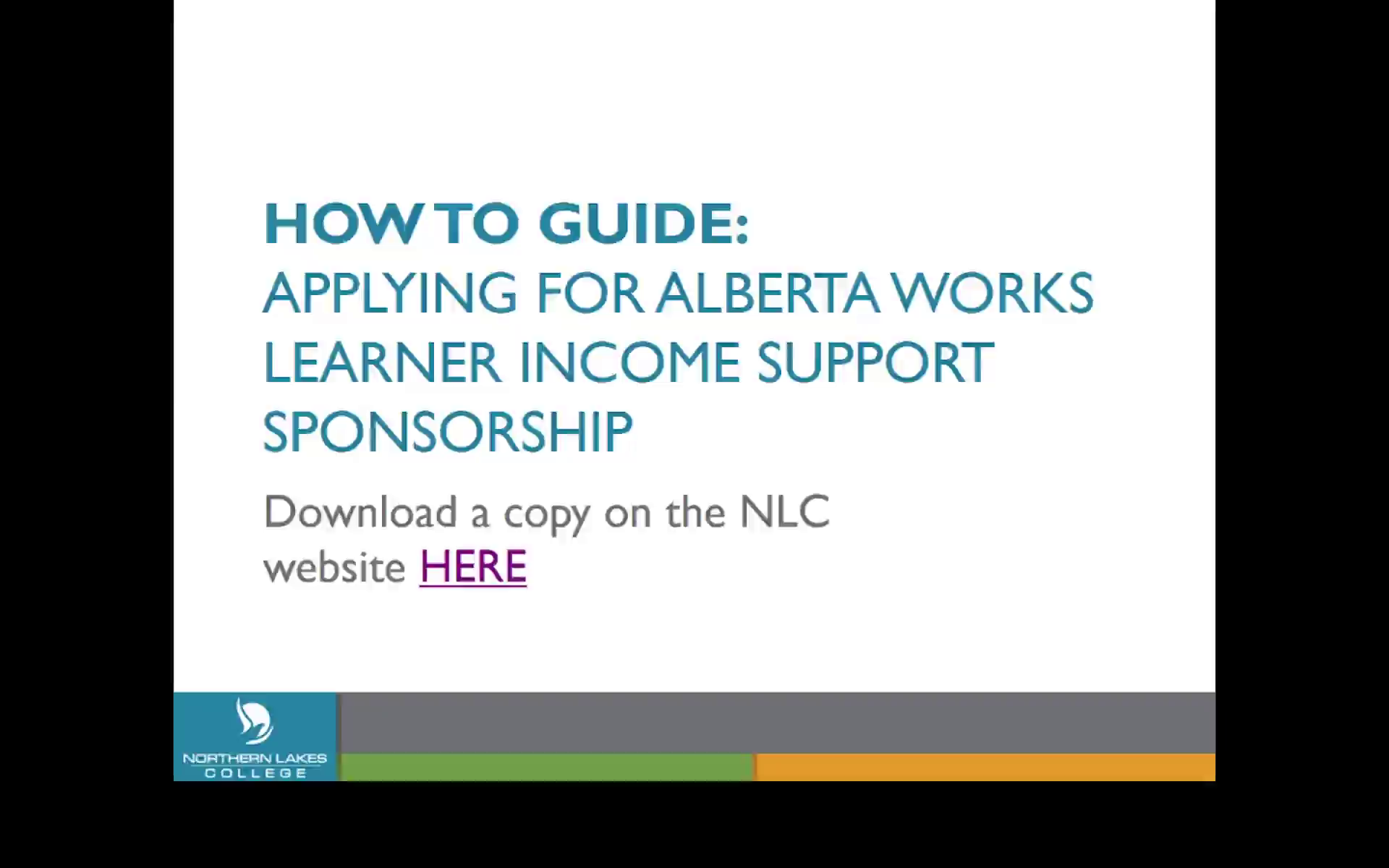 Alberta Works - Learner Income Support Sponsorship: Northern